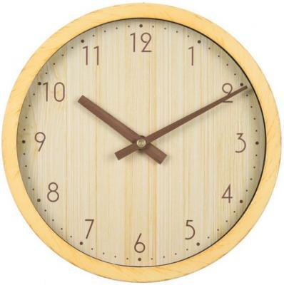 Часы настенные аналоговые Бюрократ Wood WALLC-R60P бежевый