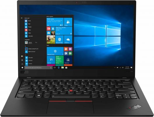 "Ноутбук Lenovo ThinkPad X1 Carbon 7 14"" 3840x2160 Intel Core i7-8565U 1024 Gb 16Gb Bluetooth 5.0 Intel UHD Graphics 620 черный Windows 10 Professional 20QD003LRT ноутбук lenovo thinkpad x1 yoga 14 2560x1440 intel core i7 6600u ssd 512 16gb intel hd graphics 520 черный windows 10 professional 20fq005urt"