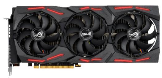 Видеокарта Asus PCI-E 4.0 ROG-STRIX-RX5700-O8G-GAMING AMD Radeon RX 5700 8192Mb 256bit GDDR6 1610/14000/HDMIx1/DPx3/HDCP Ret цена 2017