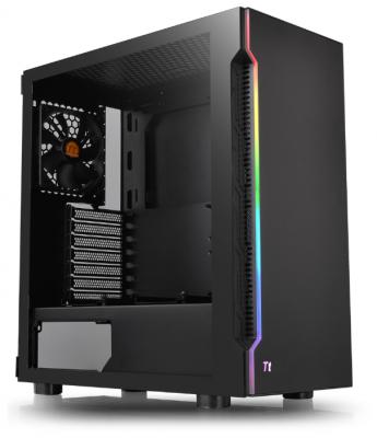 Корпус Thermaltake H200 TG RGB черный без БП ATX 2xUSB3.0 audio bott PSU корпус thermaltake h100 tg черный без бп atx 1x120mm 2xusb3 0 audio bott psu