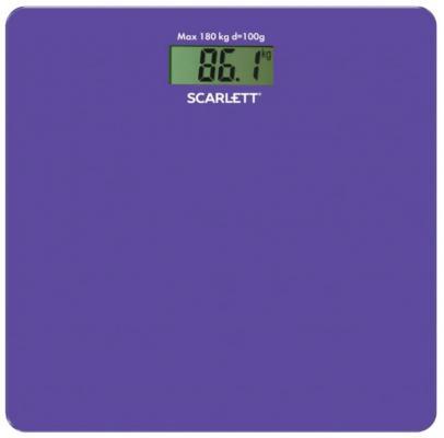 Весы напольные электронные Scarlett SC-BS33E042 макс.180кг сиреневый все цены