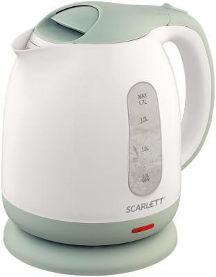 Чайник электрический Scarlett SC-EK18P55 1.7л. 2200Вт белый/ментол (корпус: пластик) чайник электрический scarlett sc ek18p53 1л 1600вт белый серый корпус пластик
