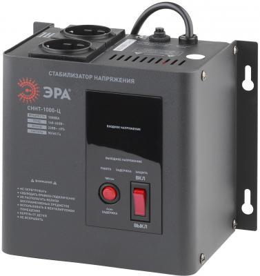 Стабилизатор напряжения Эра СННТ-1000-Ц электронный однофазный черный