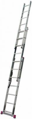 Трехсекционная универсальная лестница с допфункцией CORDA 3х7 стремянка вихрь ла 3х7 трехсекционная