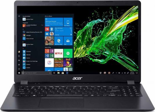 "Ноутбук 15.6"" HD Acer Aspire A315-54K-35P6 black (Core i3 7020U/4Gb/256Gb SSD/noDVD/VGA int/Linux) (NX.HEEER.005) ноутбук acer aspire s5 371 51t8 core i5 6200u 8gb 256gb ssd 13 3 fullhd linux black"