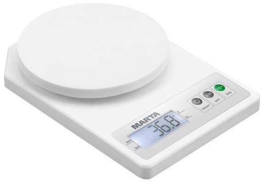 лучшая цена Весы кухонные Marta MT-1637 белый жемчуг