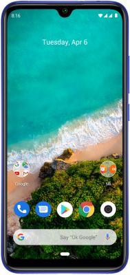Смартфон Xiaomi Mi A3 128 Гб синий смартфон htc u11 128 гб черный 99hamb123 00