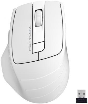 A-4Tech Мышь Fstyler FG30 WHITE серый/белый оптическая (2000dpi) беспроводная USB [1147563] мышь беспроводная a4tech fstyler fg30 серый оранжевый usb