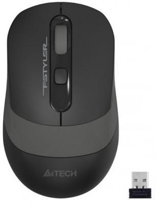 A-4Tech Мышь Fstyler FG10 GREY черный/серый оптическая (2000dpi) беспроводная USB [1147564]
