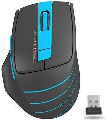 A-4Tech Мышь FStyler FG30 BLUE серый/синий оптическая (2000dpi) беспроводная USB [1147561] мышь беспроводная a4tech fstyler fg30 серый оранжевый usb