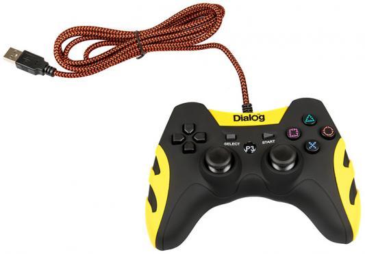 Dialog Gan-Kata GP-A21, черный {Геймпад, вибрация, 12 кнопок, PC USB/PS3, черный}