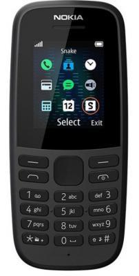 Телефон NOKIA 105 Dual sim (2019) черный (16KIGB01A01)