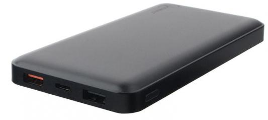 Внешний аккумулятор Power Bank 10000 мАч Gembird GPB-103 черный внешний аккумулятор df dual 01 10000 мач черный