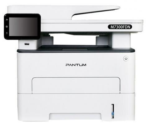 Фото - МФУ лазерный Pantum M7300FDN (A4, принтер/сканер/копир/факс, 1200dpi, 33ppm, 512Mb, ADF50, Duplex, Lan, USB) (M7300FDN) мфу canon i sensys mf445dw копир принтер сканер 38стр мин fax dadf duplex lan wi fi a4 замена mf426dw