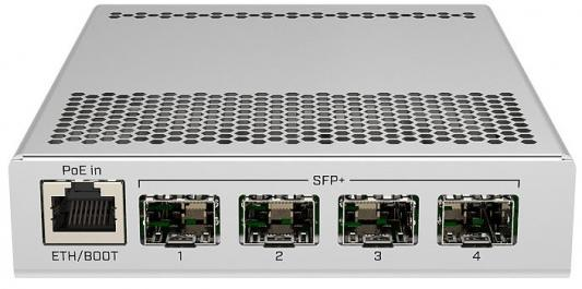 Коммутатор MikroTik CRS305-1G-4S+IN Cloud Router Switch 305-1G-4S+IN with 800MHz CPU, 512MB RAM, 1xGigabit LAN, 4 x SFP+ cages, RouterOS L5 or SwitchO цена