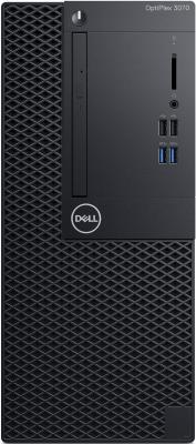 ПК Dell Optiplex 3070 MT i3 9100 (3.6)/8Gb/1Tb 7.2k/UHDG 630/DVDRW/Windows 10 Professional 64/GbitEth/260W/клавиатура/мышь/черный системный блок dell optiplex 7050 mt
