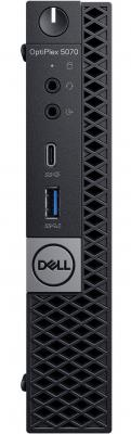 Фото - ПК Dell Optiplex 5070 Micro i7 9700T (2)/8Gb/1Tb 7.2k/SSD256Gb/UHDG 630/Windows 10 Professional 64/GbitEth/WiFi/BT/90W/клавиатура/мышь/черный пк dell optiplex 5080 micro i7 10700t 2 16gb 1tb 7 2k ssd256gb uhdg 630 windows 10 professional gbiteth wifi bt 130w клавиатура мышь черный