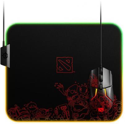 лучшая цена Коврик для мыши Steelseries QcK Prism Cloth Dota 2 Editiion рисунок/черный