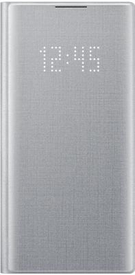 Чехол (флип-кейс) Samsung для Samsung Galaxy Note 10 LED View Cover серебристый (EF-NN970PSEGRU)