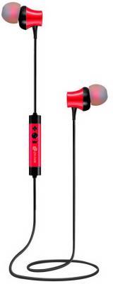 Фото - Гарнитура вкладыши Oklick BT-S-155 красный беспроводные bluetooth (в ушной раковине) беспроводные наушники oklick bt s 155 black