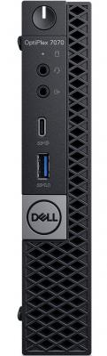 Фото - ПК Dell Optiplex 7070 Micro i5 9500 (3)/8Gb/SSD256Gb/UHDG 630/Windows 10 Professional 64/GbitEth/WiFi/BT/130W/клавиатура/мышь/черный пк dell optiplex 5080 micro i7 10700t 2 16gb 1tb 7 2k ssd256gb uhdg 630 windows 10 professional gbiteth wifi bt 130w клавиатура мышь черный