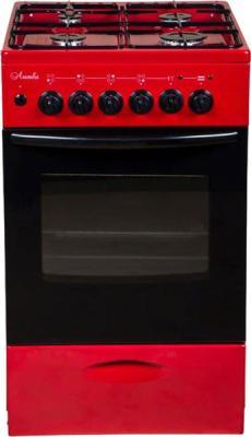 Плита Комбинированная Лысьва ЭГ 404 МС-2у вишневый (стеклянная крышка) реш.чугун цена