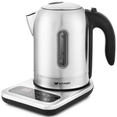 Чайник электрический KITFORT 658-КТ 2200 Вт серебристый 1.7 л металл/пластик недорого