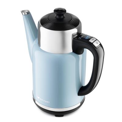 Картинка для 668-5-КТ Чайник Kitfort.Мощность: 1500–1785 Вт.Ёмкость: 1,7 л.Длина шнура: 0,5 м.голубой.