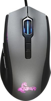 Мышь Oklick 985G SCORPION черный оптическая (3200dpi) USB игровая (6but) цена и фото