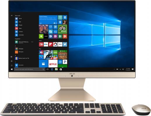 "Моноблок Asus A6432UAK-BA034D 21.5"" Full HD PG 4417U (2.3)/4Gb/500Gb 5.4k/HDG610/Endless/GbitEth/WiFi/BT/65W/клавиатура/мышь/Cam/черный/золотистый 1920x1080 цена и фото"