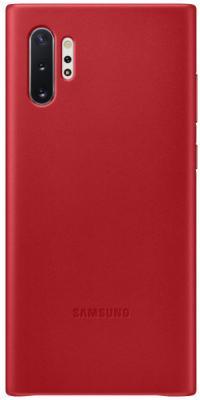 Чехол (клип-кейс) Samsung для Samsung Galaxy Note 10+ Leather Cover красный (EF-VN975LREGRU) клип кейс oxy fashion fine для samsung galaxy j5 2016 прозрачный
