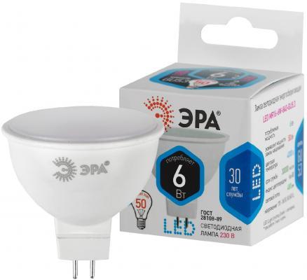 ЭРА Б0020545 Светодиодная лампа LED smd MR16-6w-840-GU5.3..