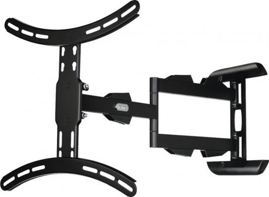 Фото - Кронштейн для телевизора Hama H-108712 черный 32-65 макс.25кг настенный поворотно-выдвижной и наклонный кронштейн для телевизора hama h 108770