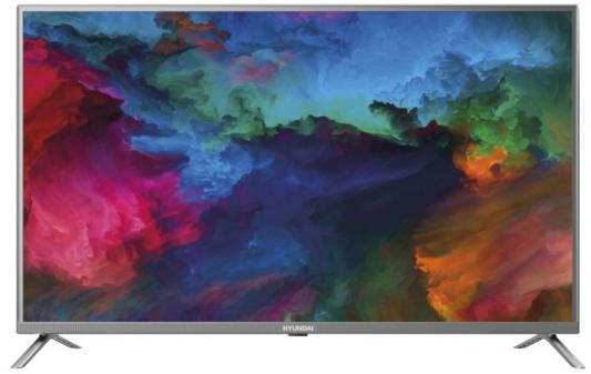 Телевизор LED Hyundai 43 H-LED43ES5001 стальной/FULL HD/60Hz/DVB-T2/DVB-C/DVB-S2/USB/WiFi/Smart TV (RUS) телевизор led starwind 43 sw led43sa300 черный full hd 60hz dvb t2 dvb c dvb s2 usb wifi smart tv rus