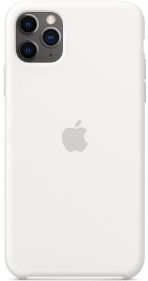 Чехол (клип-кейс) Apple для Apple iPhone 11 Pro Max Silicone Case белый (MWYX2ZM/A)