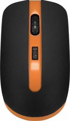 Фото - Мышь CBR CM 554R Black/Orange USB(Radio) оптическая, 1600 dpi, 3 кнопки и колесо прокрутки мышь проводная cbr cm 131 оптическая usb 800 dpi abs пластик 3 кнопки и колесо прокрутки длина кабеля 2 м цвет чёрный