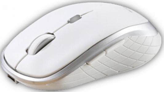 Фото - Мышь CBR CM 551R White USB(Radio) оптическая, 1600 dpi, 5 кнопок и колесо прокрутки мышь проводная cbr cm 131 оптическая usb 800 dpi abs пластик 3 кнопки и колесо прокрутки длина кабеля 2 м цвет чёрный
