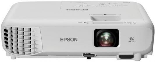 Фото - Проектор Epson EB-E001 1024x768 3100 люмен 10000:1 белый (V11H839240) проектор epson eh tw610 1920х1080 3000 люмен 10000 1 белый v11h849140