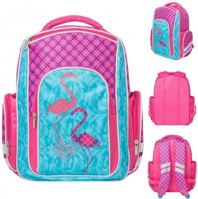 Купить Рюкзак ANIMAL PLANET FLAMINGO, разм.37x26x12 см, уплотн.спинка, световозвр. элементы, для девочек, Action!, Ранцы, рюкзаки и сумки