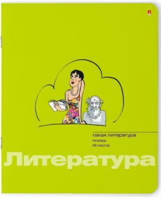Тетрадь ПРИКОЛЫ-литература, двойная обл., справочный материал, лин., 48 л.