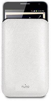 Чехол Puro Slim Essential Case для Samsung Galaxy Note (эко-кожа, белый)