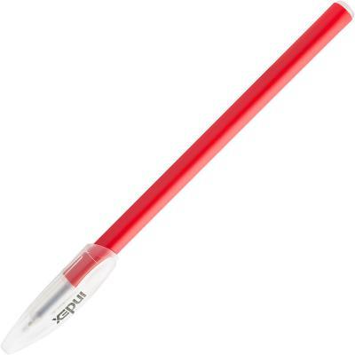 Фото - Ручка шариковая, 1 мм, красный цв., пластик корп., INDEX ручка гелевая 0 7 мм черный цв рифление пластик корп index bimberi