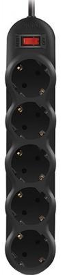 Фильтр SVEN SF-05L 1 м (5 розеток) черный, цветная коробка