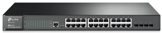 JetStream™ 24-port Pure-Gigabit L2 Managed Switch, 24 10/100/1000Mbps RJ45 ports including 4 Gigabit SFP slots, 1U 19-inch rack-mountable steel case