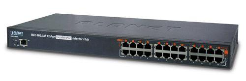 12-Port 802.3at Managed Gigabit Power over Ethernet Injector Hub (full power - 200W)