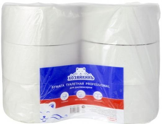 Бумага туалетная ХОЗЯЙКИНЪ, 1-сл, натурально белая, 480 м, 6 рул/уп бумага tork 120243 premium 2 сл бел o19 o6 10 170м 12 рул уп