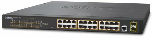 IPv4, 24-Port Managed 802.3at POE+ Gigabit Ethernet Switch + 2-Port 100/1000X SFP (300W) коммутатор edge core ecs 4810 12m 12 port 10 100 1000base t combination rj 45 sfp port l2 gigabit ethernet switch