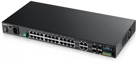 ZYXEL MGS3520-28 28-port Managed Metro Gigabit Switch with 4 of 28 RJ-45 connectors shared with SFP slots коммутатор trendnet 48 port gigabit managed layer 2 switch with 4 shared sfp slots tl2 g448 rtl