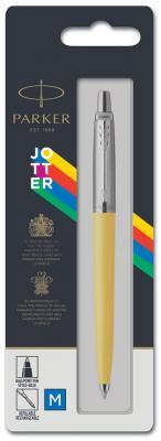 Ручка шариковая автоматическая, 1 (M) мм, синий цв. чернил, глянцевый, желтый корп., пластик/ нержавеющая сталь, нет, PARKER, JOTTER ORIGINALS PLASTIC, блистер с е/п parker шариковая ручка jotter originals plastic k60 m 2076054 синий цвет чернил