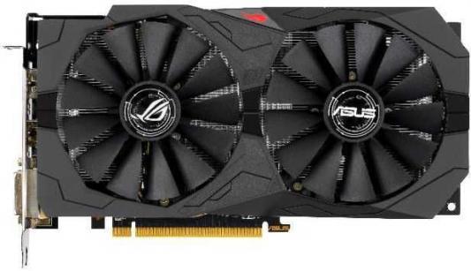 Видеокарта Asus PCI-E ROG-STRIX-RX570-O8G-GAMING AMD Radeon RX 570 8192Mb 256bit GDDR5 1168/7000 DVIx2/HDMIx1/DPx1/HDCP Ret